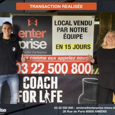 ENTERPRISE IMMOBILIER D'ENTREPRISE installe COACH FOR LIFE